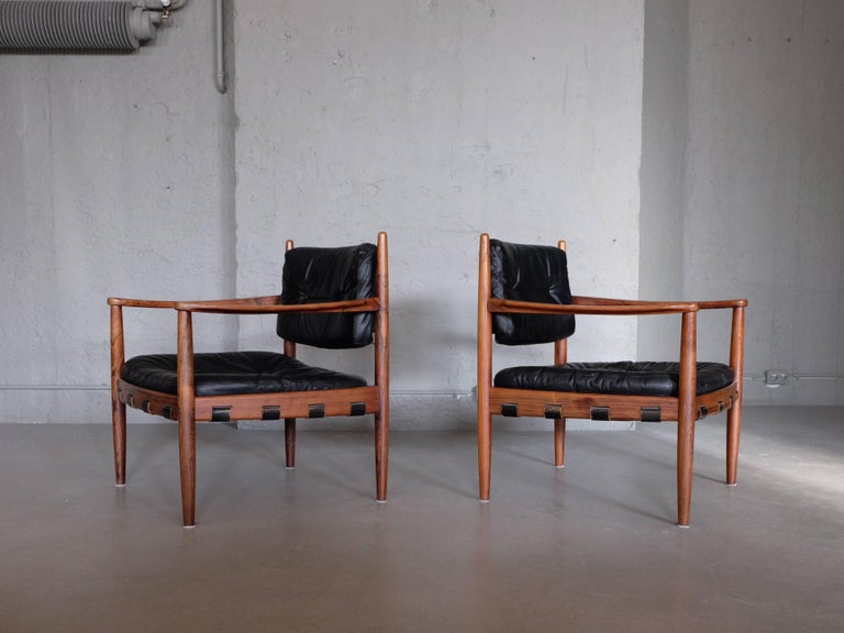 Rare pair of easy chairs model
