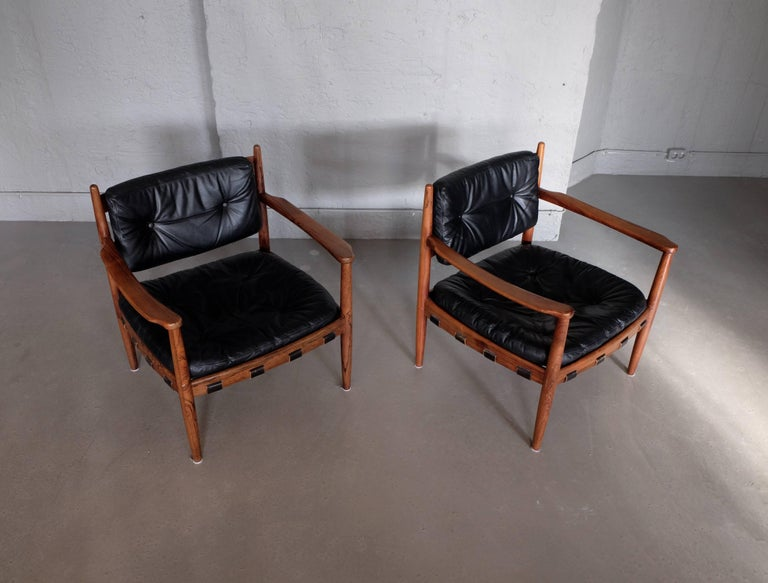 Swedish Pair of Cadett Easy Chairs by Eric Merthen, Sweden, 1960s For Sale