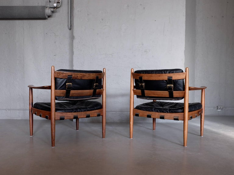 Mid-20th Century Pair of Cadett Easy Chairs by Eric Merthen, Sweden, 1960s For Sale