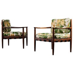"Pair of ""Cadett"" Easy Chairs by Eric Merthen, Sweden, 1960s"