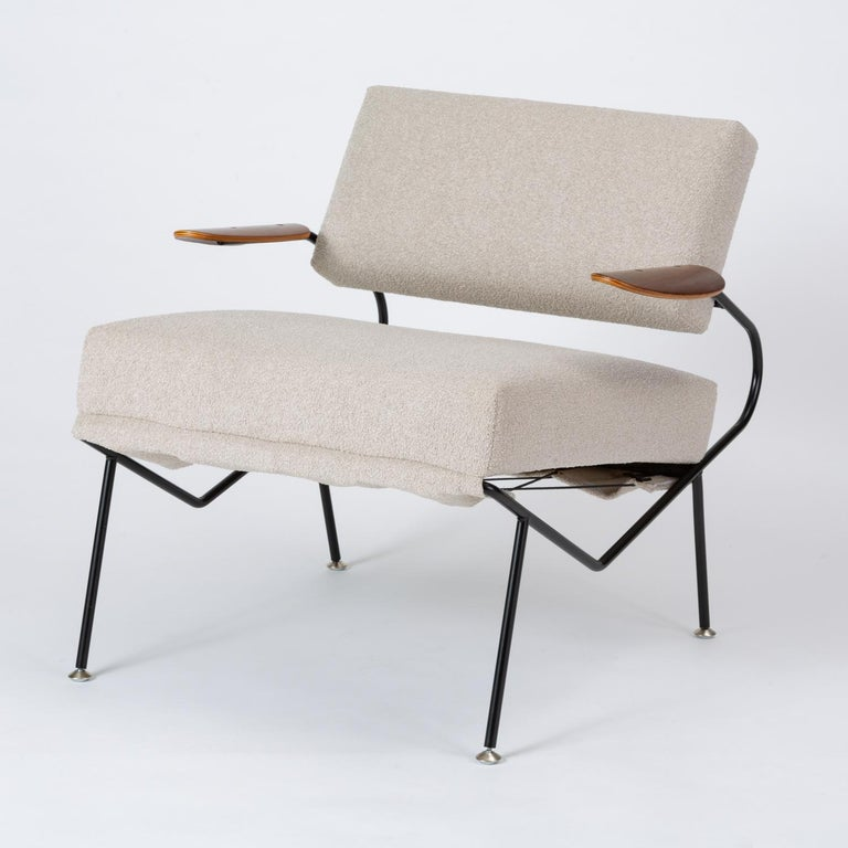 Metal Pair of California Modern Lounge Chairs by Dan Johnson for Selig For Sale