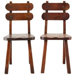 Pair of California Rancho Monterey Dining Chairs