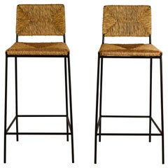 Pair of 'Campagne' Counter Height Stools by Design Frères