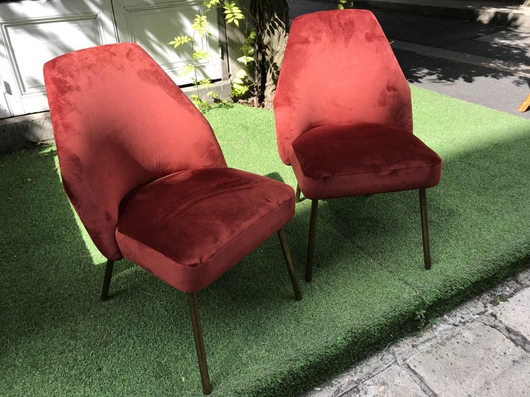 Italian Pair of Campanula Chairs by Carlo Pagani for Arflex For Sale