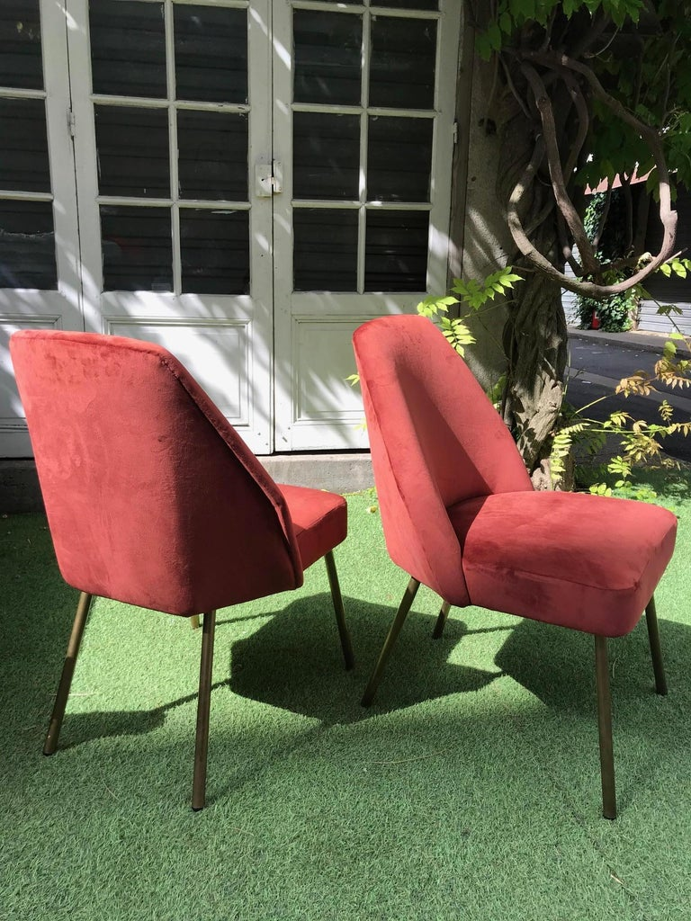 Metal Pair of Campanula Chairs by Carlo Pagani for Arflex For Sale