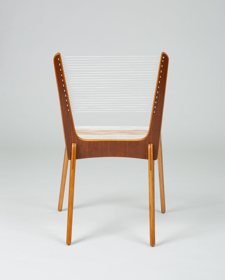 Pair of Canadian Modernist Cord Chairs by Jacques Guillon For Sale 4