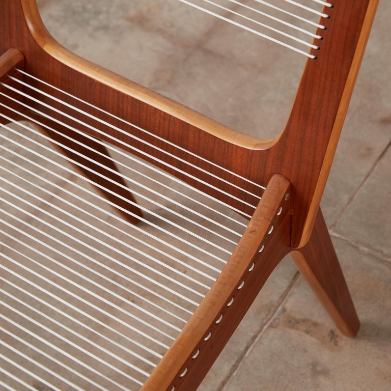 Pair of Canadian Modernist Cord Chairs by Jacques Guillon For Sale 5