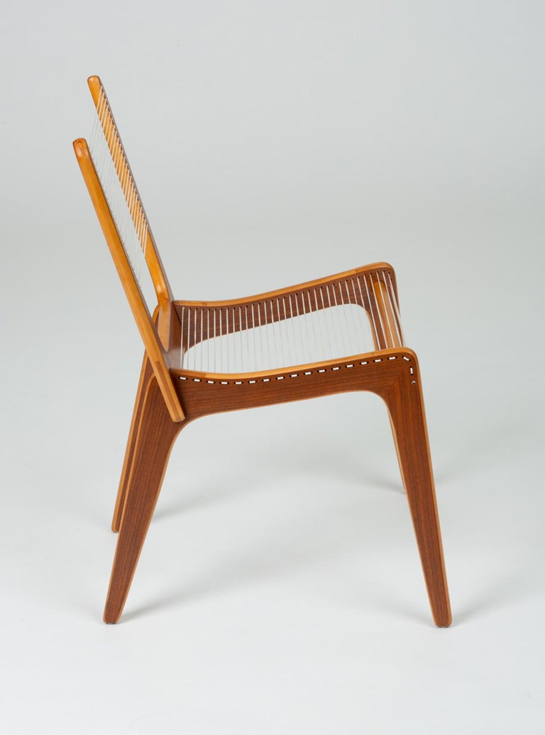 Pair of Canadian Modernist Cord Chairs by Jacques Guillon For Sale 6