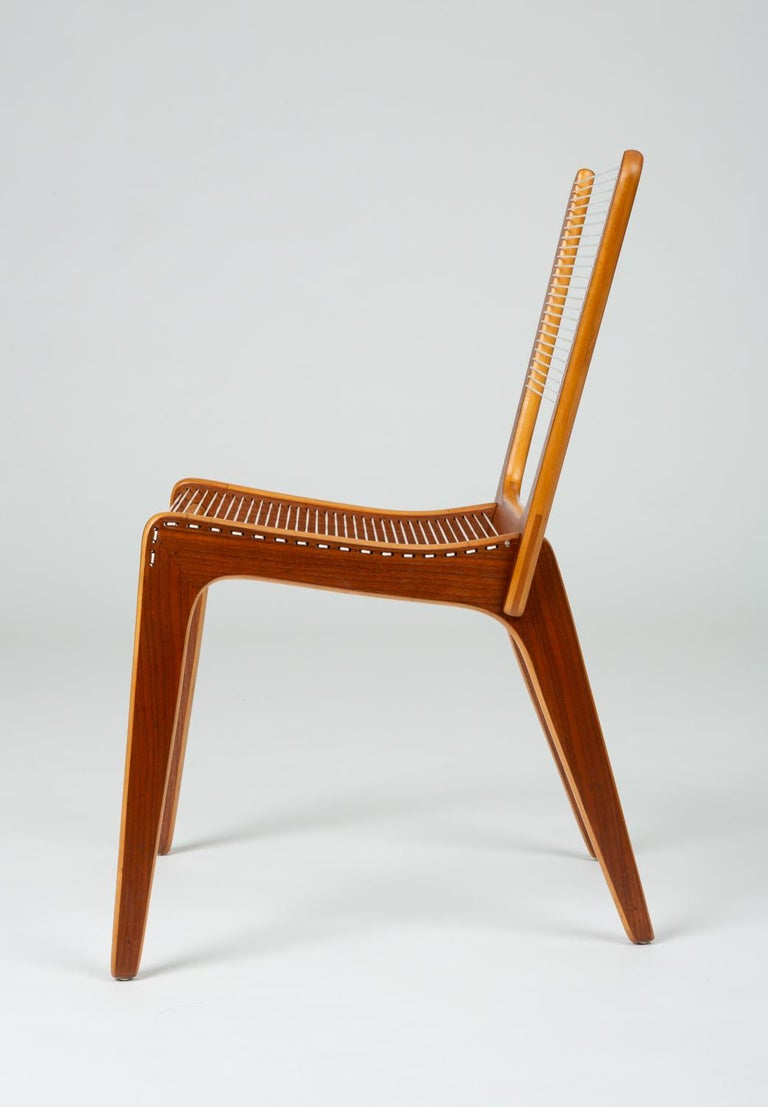 Nylon Pair of Canadian Modernist Cord Chairs by Jacques Guillon For Sale