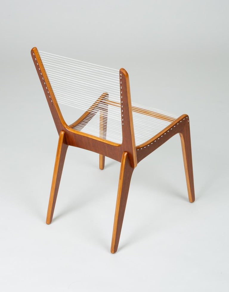 Pair of Canadian Modernist Cord Chairs by Jacques Guillon For Sale 2