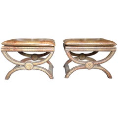 Pair of Candace Barnes Now Benches / Stools