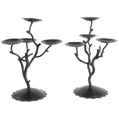 Pair of Candelabra 4 Branches, 20th Century, Modern Art