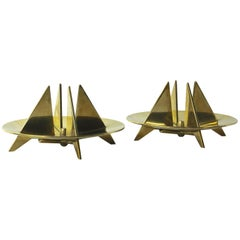 Pair of Candle Holders by Pierre Forsell for Skultana