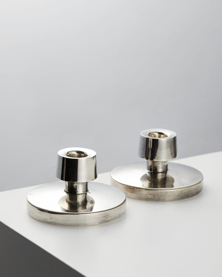 Pair of candle sticks designed by Rey Urban, Sweden. 1964.
