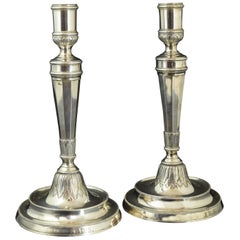 Pair of Candleholders, F. Roca, Barcelona, Spain, 19th Century