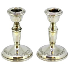 Pair of Candlesticks .925 Silver, Broadway & Co., U.K., 1964