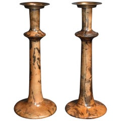 Pair of Candlesticks Cover with Parchment