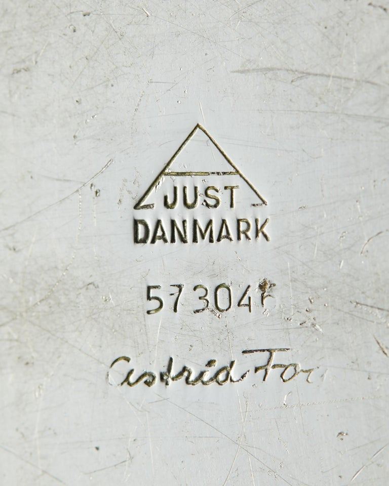 Swedish Pair of Candlesticks, Designed by Astrid Fog for Geust Andersen, Denmark, 1960s For Sale