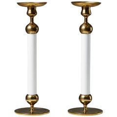 Pair of Candlesticks Designed by Josef Frank for Svenskt Tenn, Sweden, 1950s