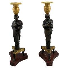 Pair of Candlesticks, French Empire Made, circa 1810