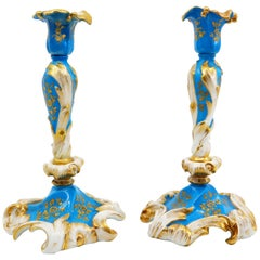 Pair of Candlesticks in Blue