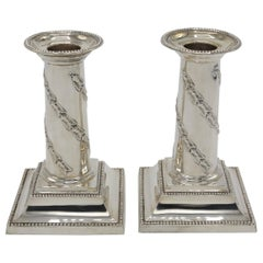Pair of Candlesticks, London 1891, 925/- Sterling Silver, Hallmarked