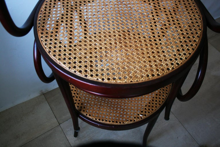 Pair of Cane and Bentwood Chairs after Thonet 209, 1950s For Sale 7