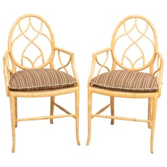 Pair of Caned Bottom Armchairs