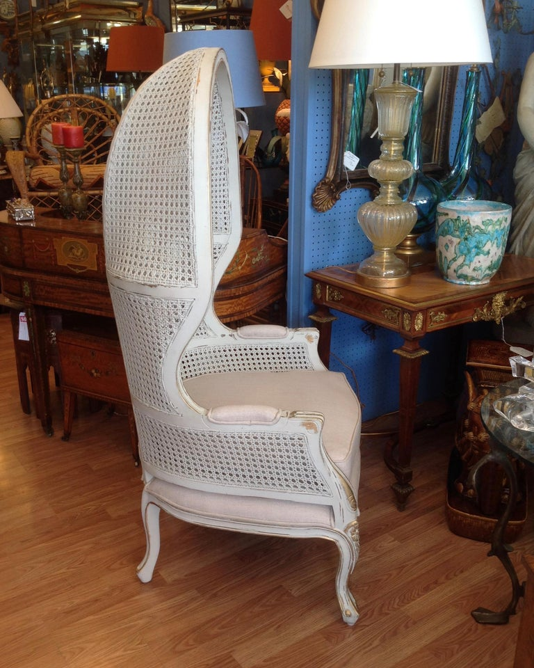 Pair of Caned Porter's Style Chairs For Sale 3