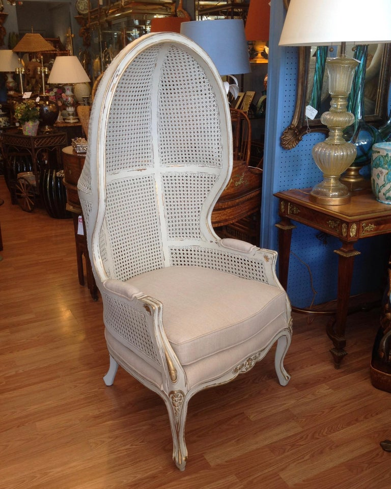 Pair of Caned Porter's Style Chairs For Sale 4