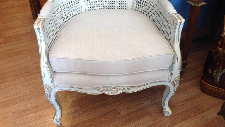 Pair of Caned Porter's Style Chairs For Sale 5