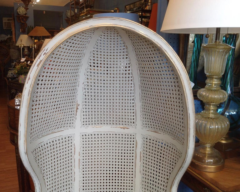 Pair of Caned Porter's Style Chairs For Sale 7