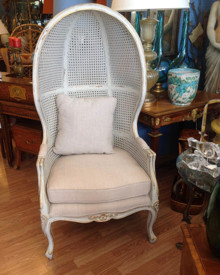 Pair of Caned Porter's Style Chairs For Sale 9