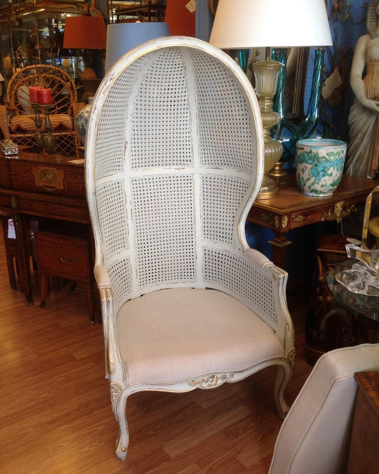 Pair of Caned Porter's Style Chairs For Sale 1