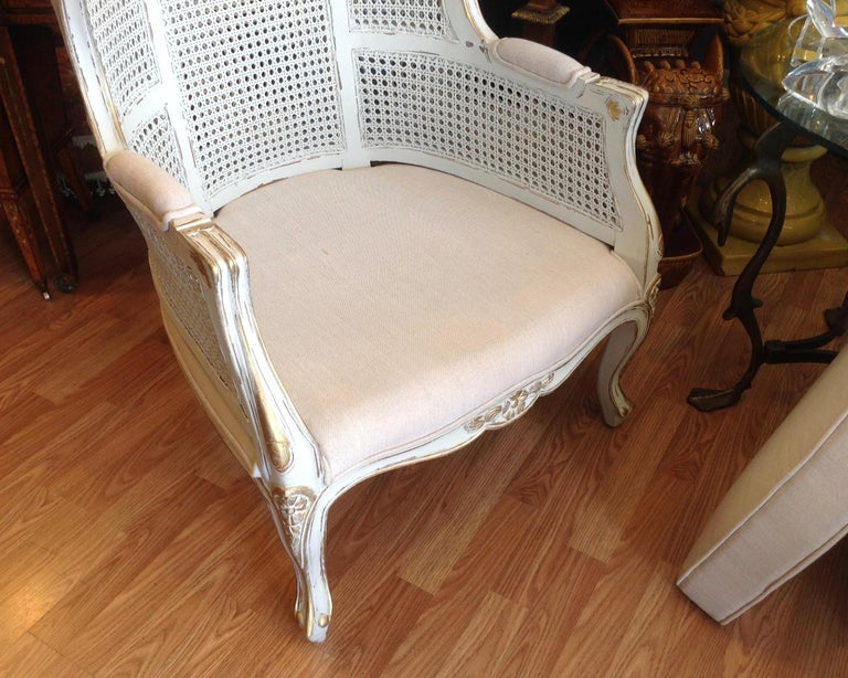 Pair of Caned Porter's Style Chairs For Sale 2