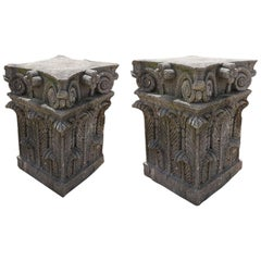 Pair of Cantera Stone Bases