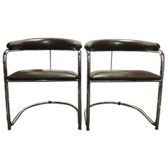 Pair of Cantilever Armchairs by Anton Lorenz