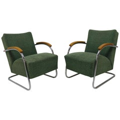 Pair of Cantilever Armchairs by Anton Lorenz, Kovona Company, 1950s