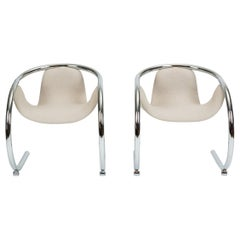 Pair of Cantilevered Lounge Chairs by Byron Botker for Landes