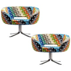 Pair of Cappelini Walt Disney Limited Edition Rive Droite Swivel Chairs