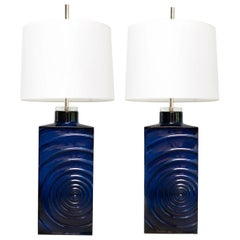 "Pair of Cari Zalloni  ""Zyklon"" Mid-century Modern lamps for Steuler"
