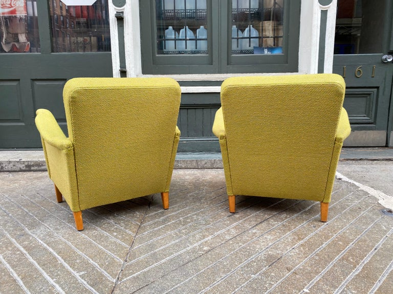 Pair of Carl Malmsten for DUX Lounge Chairs For Sale 4