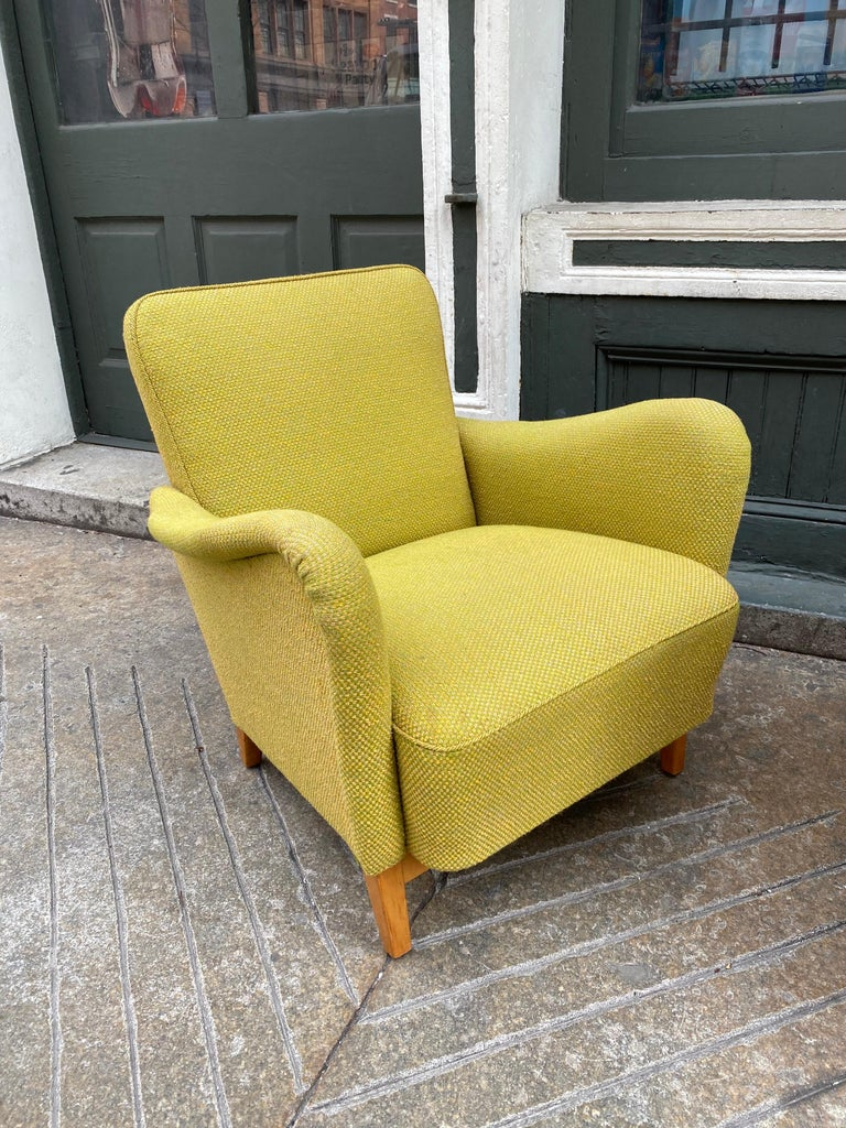 Scandinavian Modern Pair of Carl Malmsten for DUX Lounge Chairs For Sale