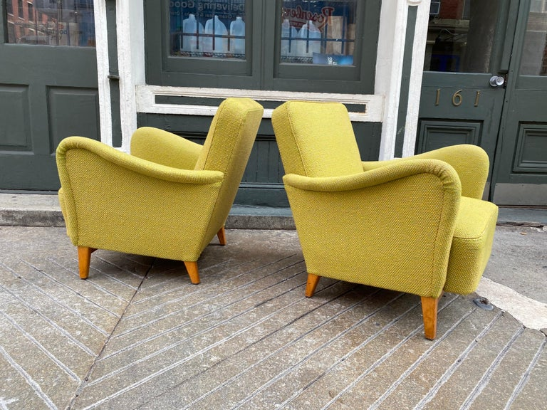Pair of Carl Malmsten for DUX Lounge Chairs In Good Condition For Sale In Philadelphia, PA