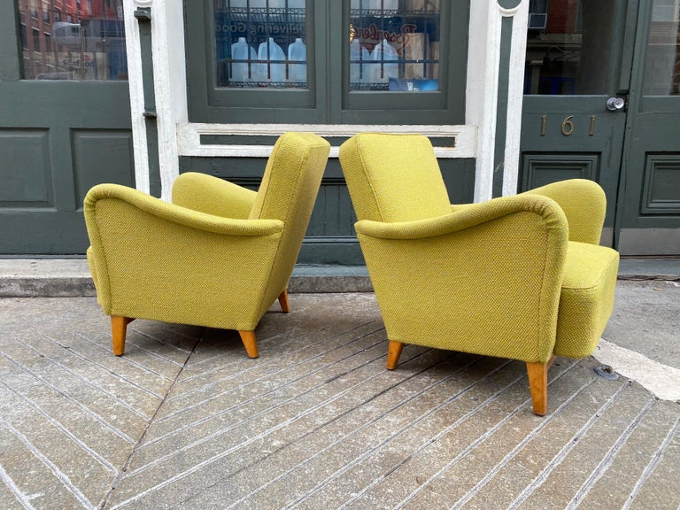 Mid-20th Century Pair of Carl Malmsten for DUX Lounge Chairs For Sale