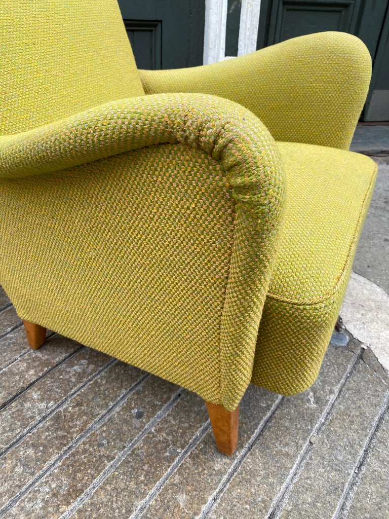 Upholstery Pair of Carl Malmsten for DUX Lounge Chairs For Sale