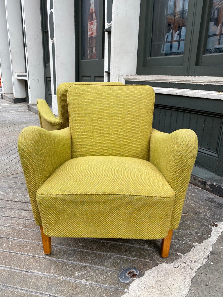 Pair of Carl Malmsten for DUX Lounge Chairs For Sale 1