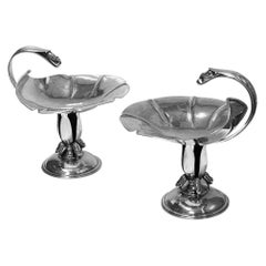 Pair of Carl Poul Petersen Sterling Silver Compotes Montreal, circa 1940