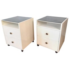 Pair of Carlo de Carli White-Lacquered Nightstands for Sormani, 1960