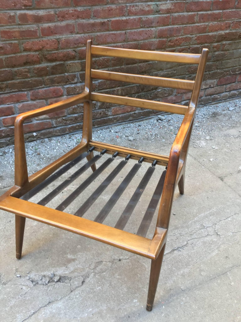 Pair of Carlo di Carli Walnut Armchairs for M. Singer & Sons For Sale 3